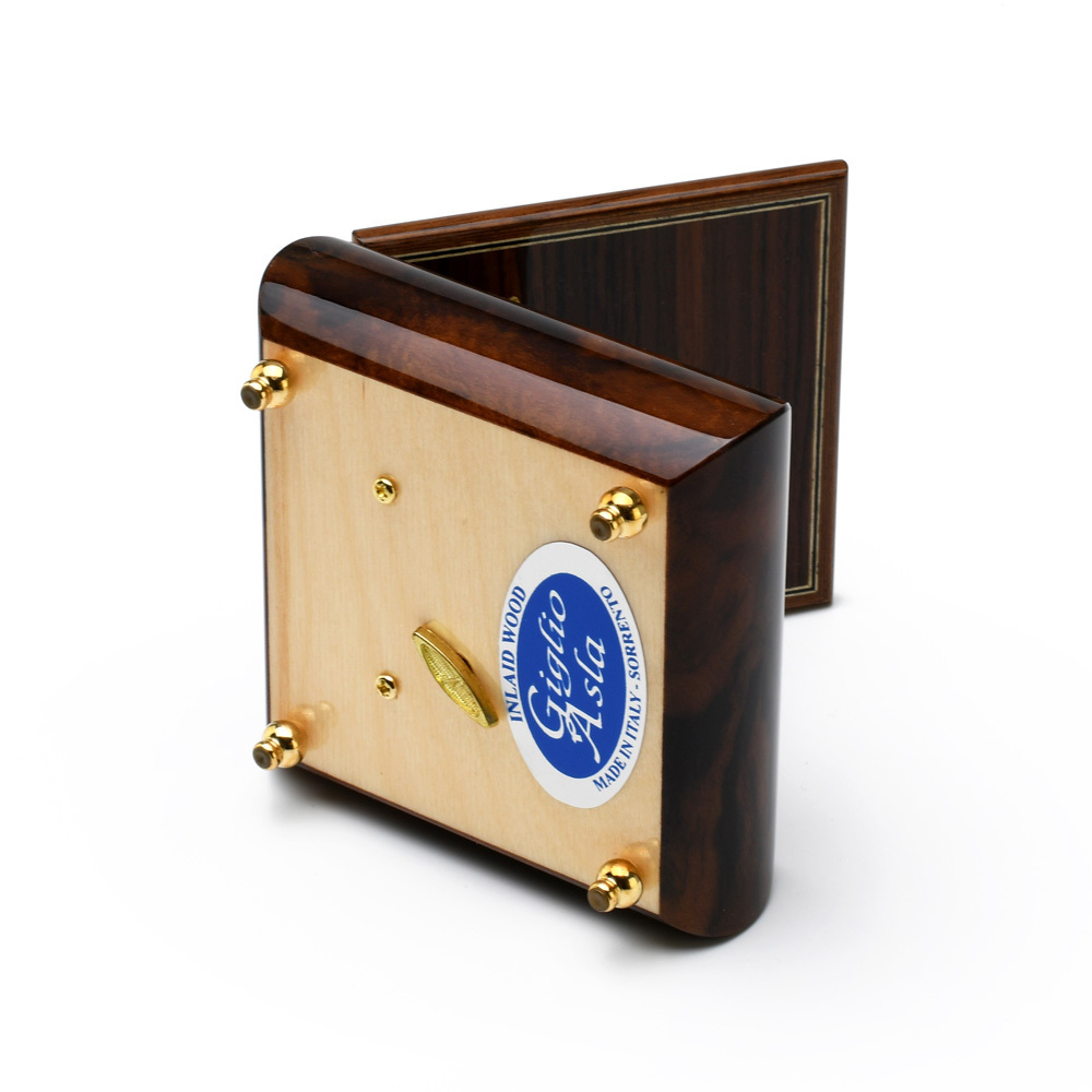Unique Custom Made United States Air force Insignia Wood Inlay 18 Note Music Box