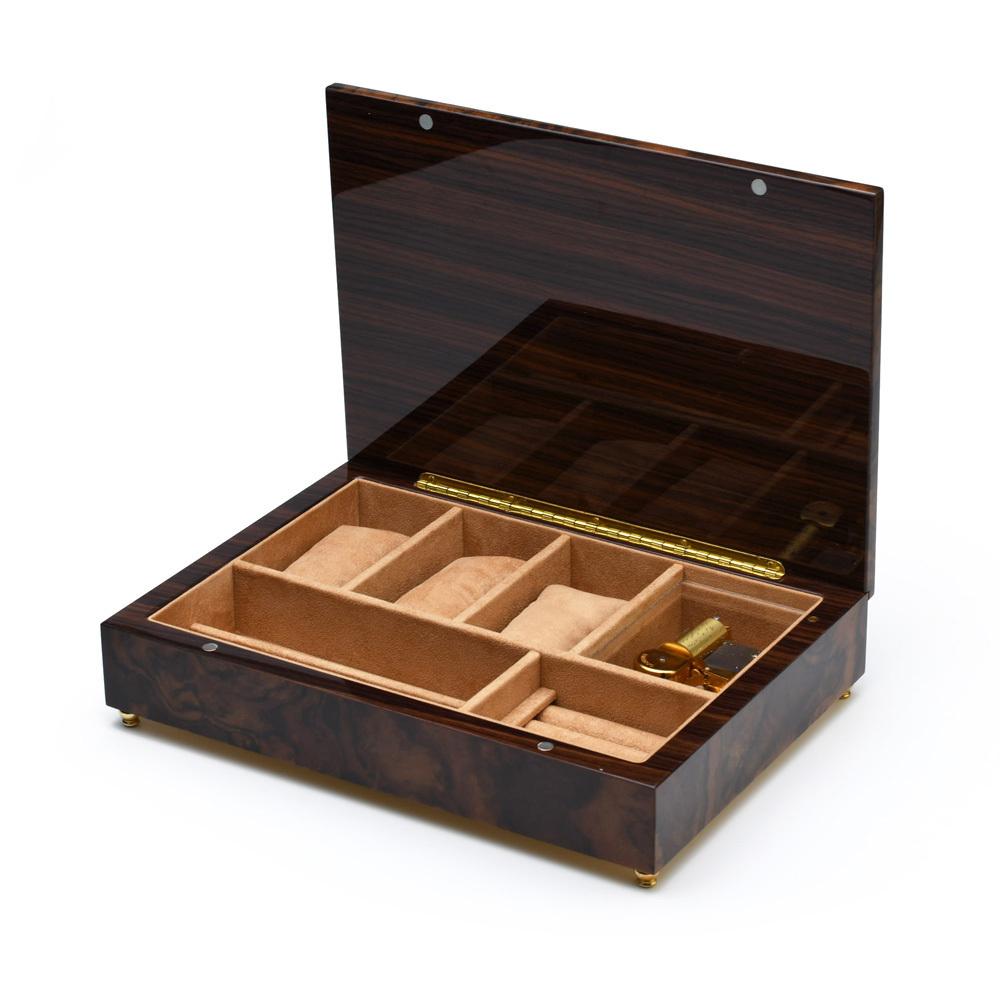 Classic Style 18 Note Minimal Design Musical Italian Valet / Watch Box