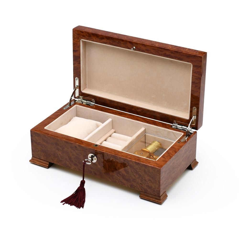 Stunning Vavona Wood 36 Note Classic Italian Style Musical Valet / Watch Box