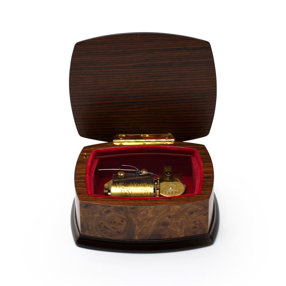 Handcrafted 30 Note Italian Musical Theme Inlay Music Jewelry Box