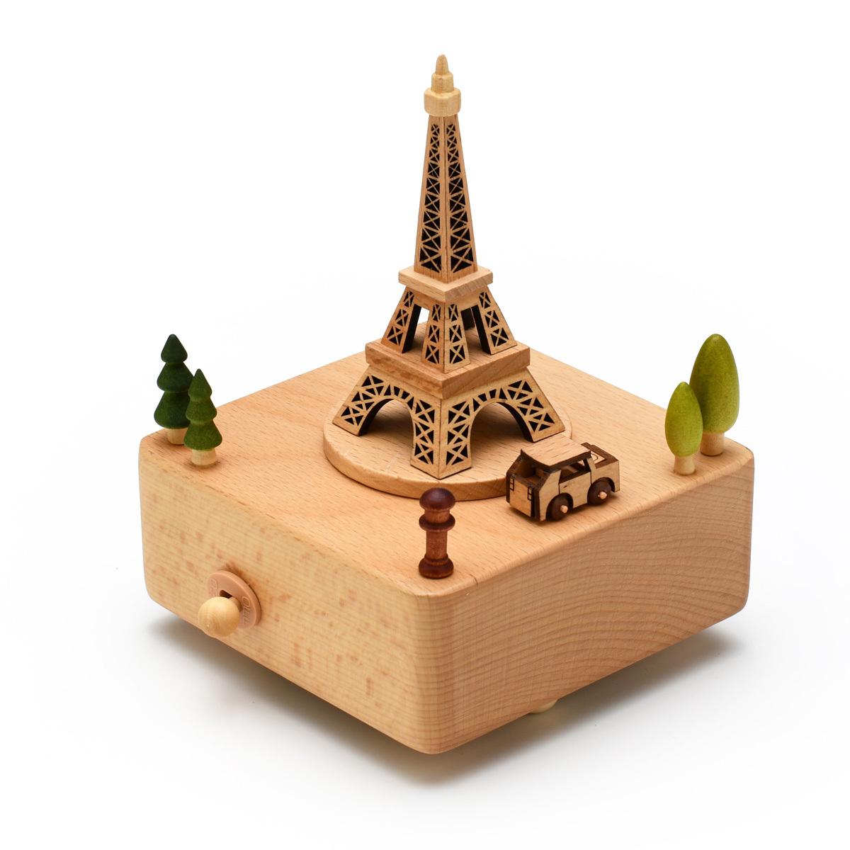 Animated 18 Note Musical Wooden Eiffel Tower Keepsake