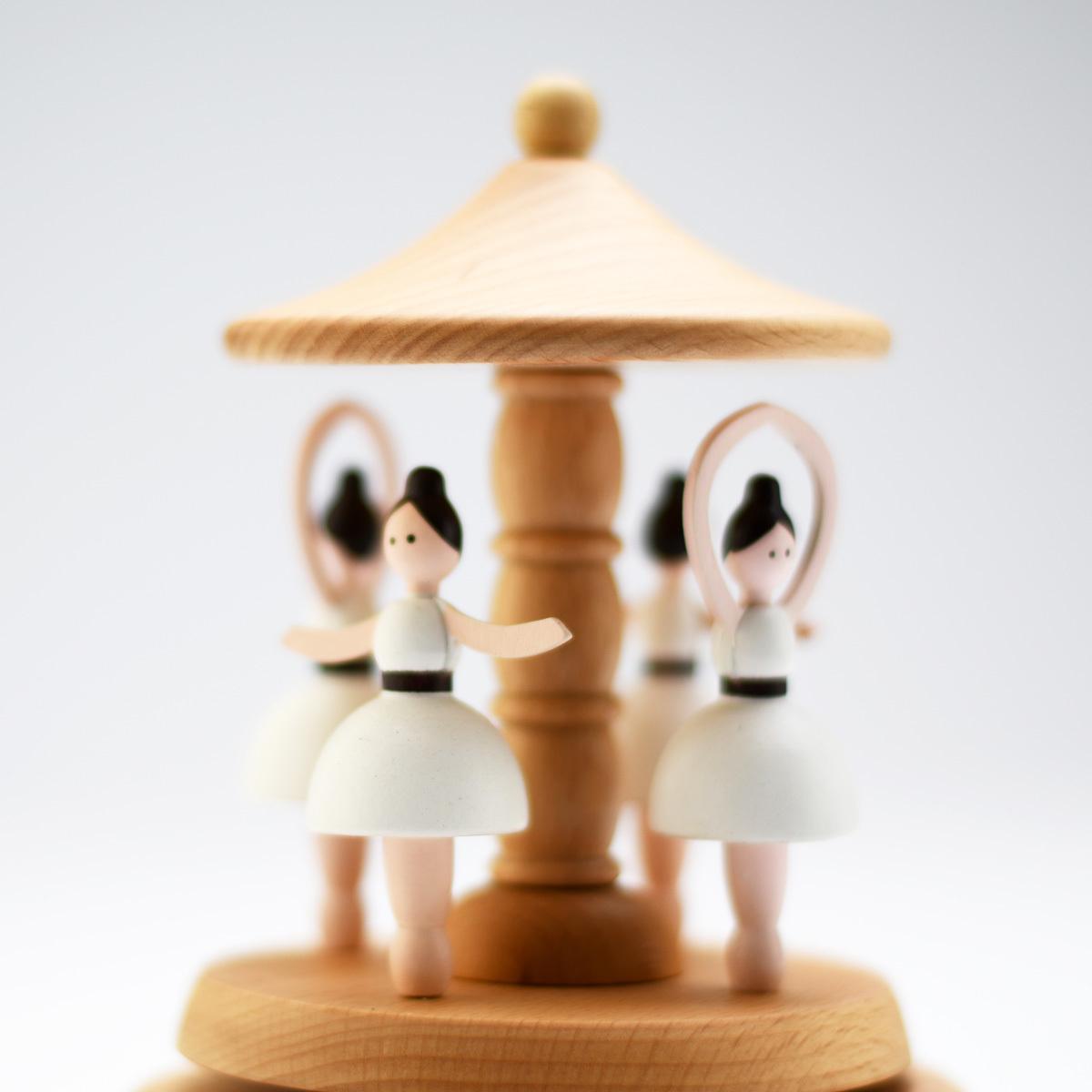 Animated 18 Note Musical Wooden Ballerina Carousel Keepsake