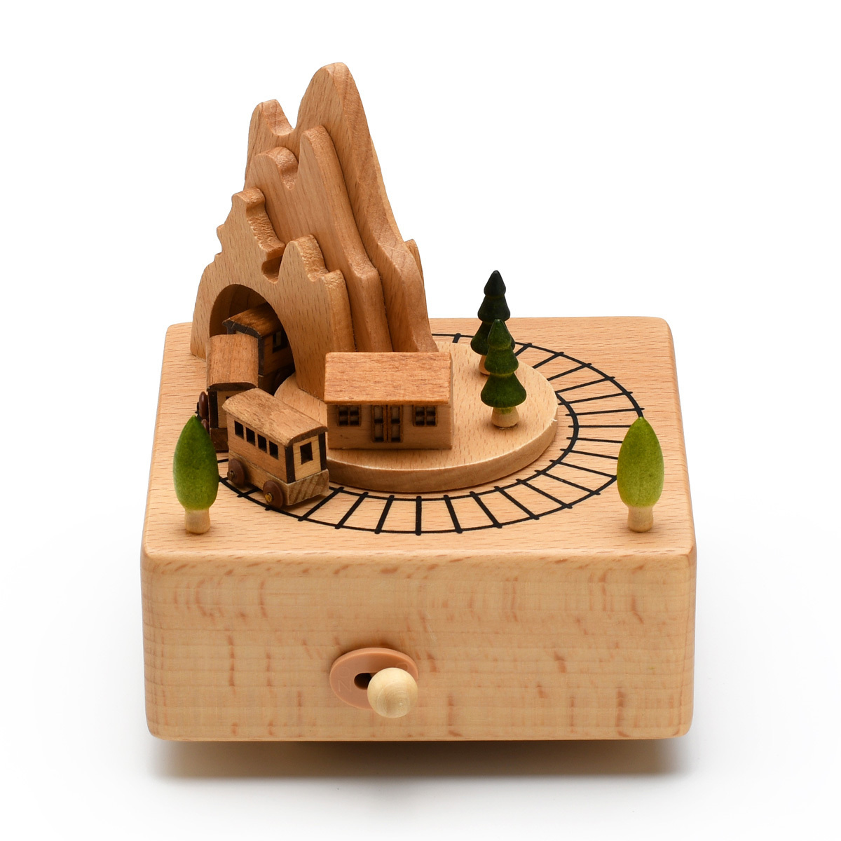 Animated 18 Note Musical Wooden Train on the Range Keepsake