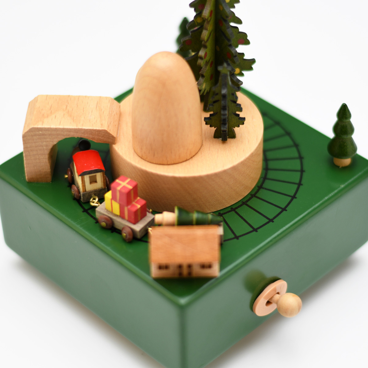 Animated 18 Note Musical Wooden Christmas Tree Hunt Keepsake