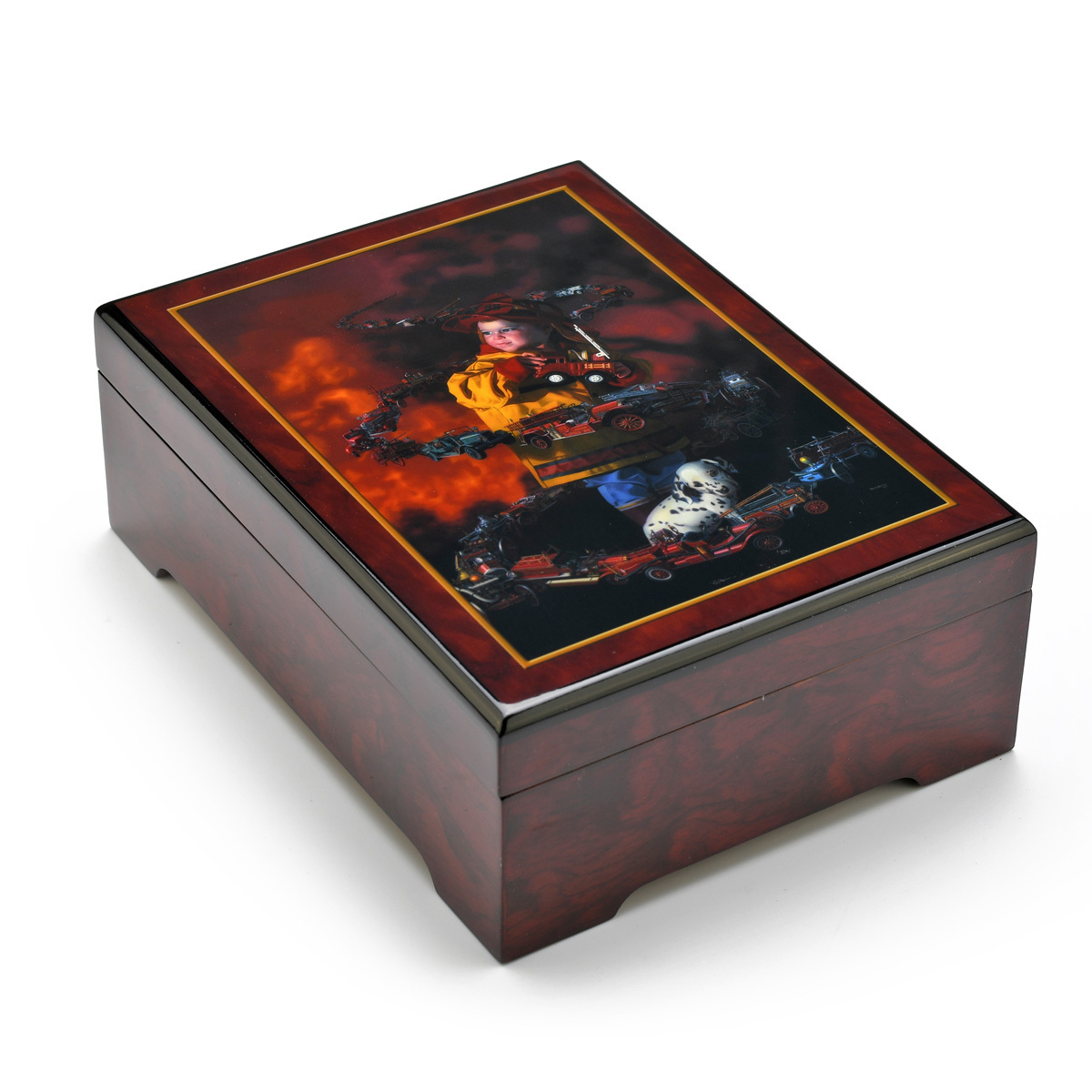 Wooden Musical Keepsake - Byerley The Brigade Music Box