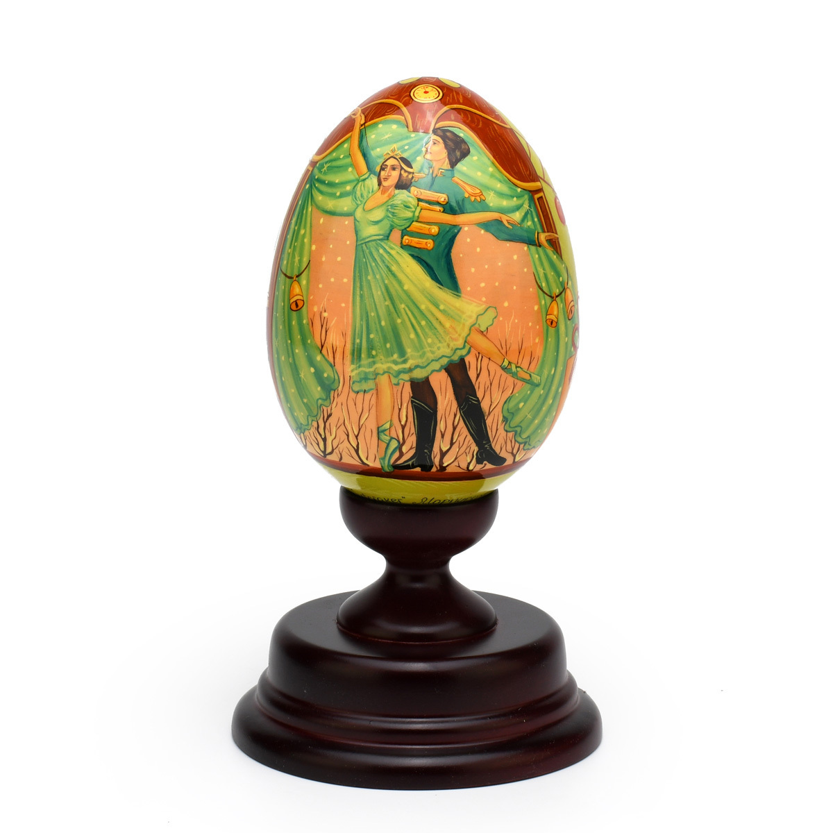 Limited Edition Reuge Hand-Painted Russian Egg Titled The Nutcracker