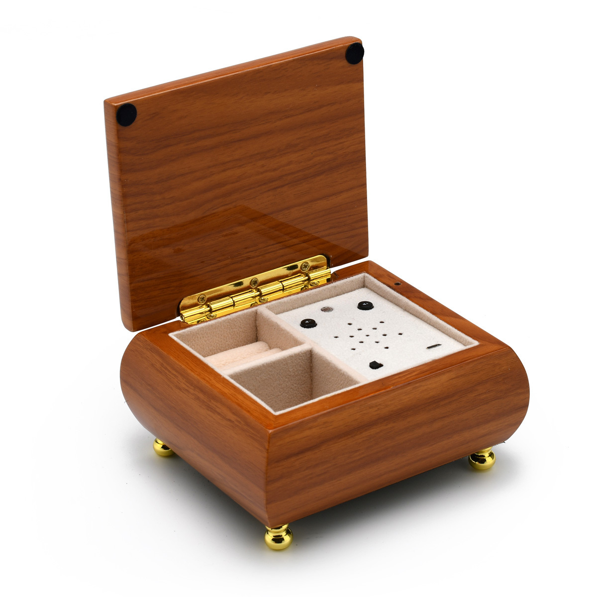 Natural Hi-Gloss Light Wood Custom USB Module Music Box