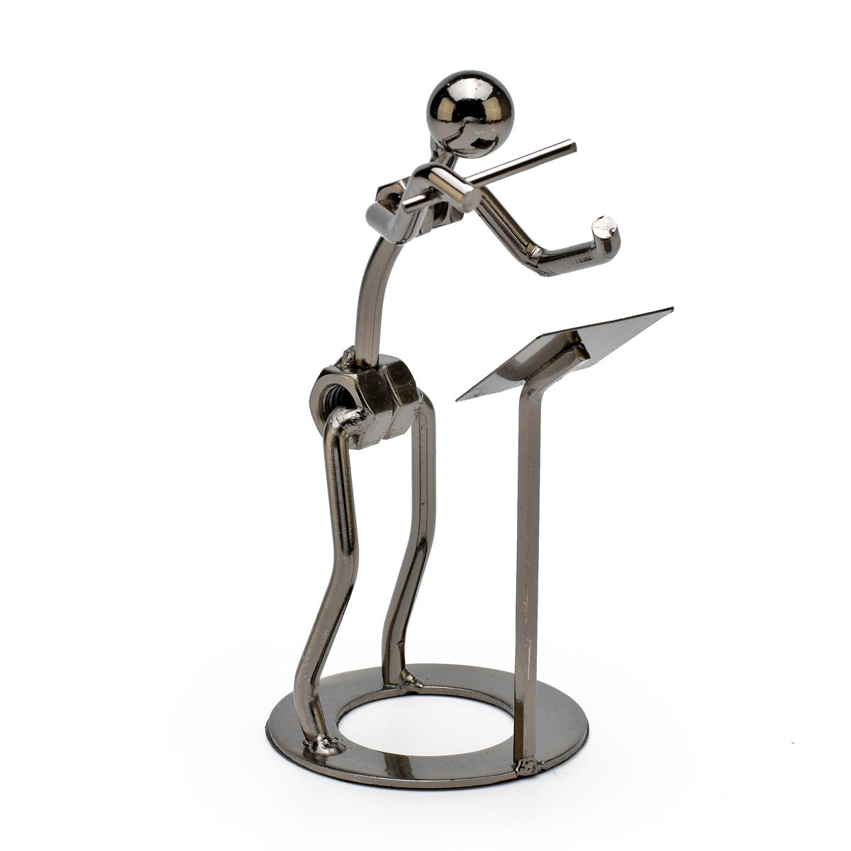 Handcrafted Metal Musician of Maestro Figurine
