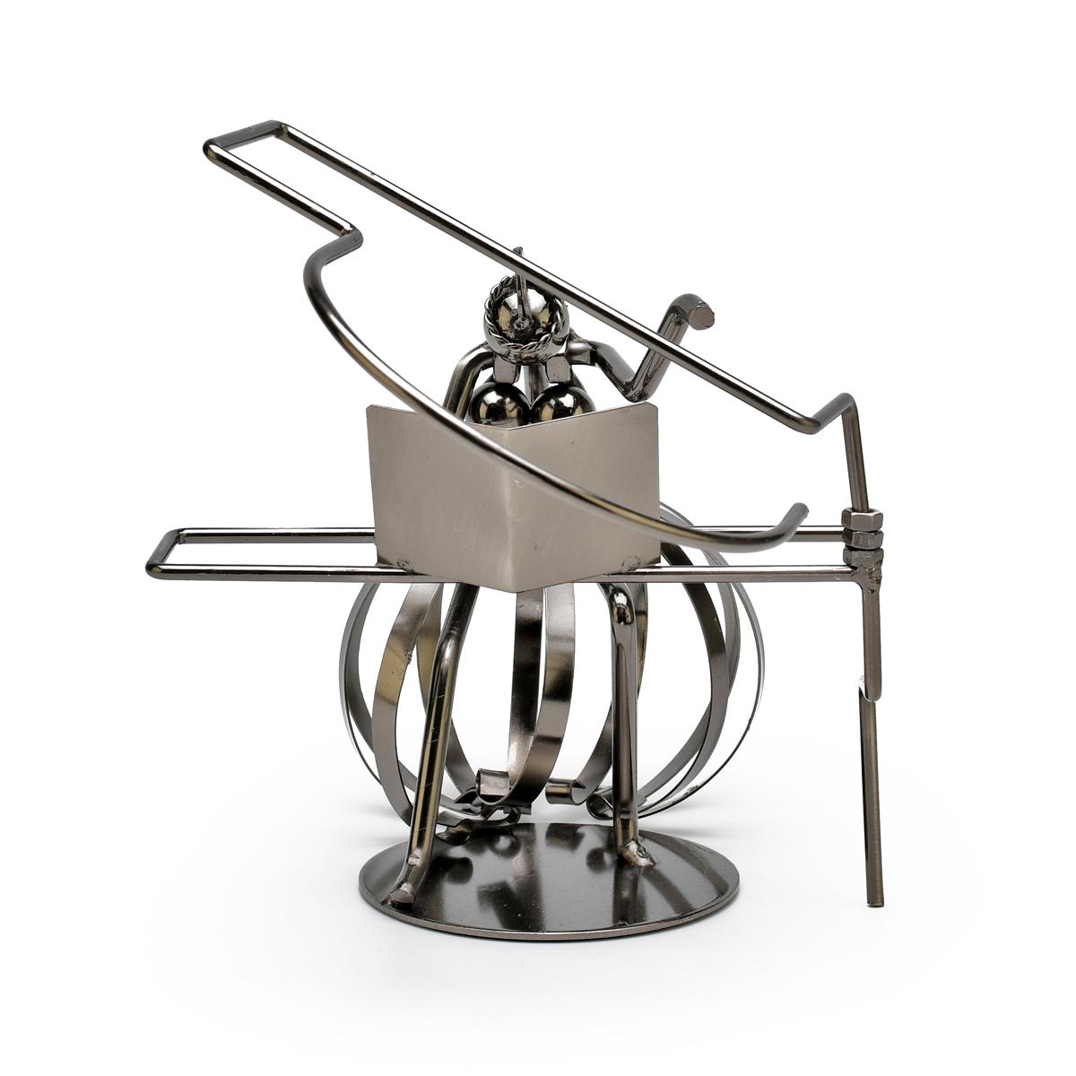 Handcrafted Metal Musician of Pianist Figurine