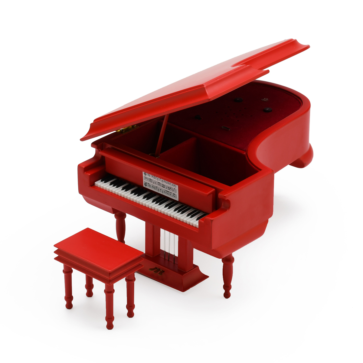 Miniature Red Custom USB Sound Module Grand Piano with Bench