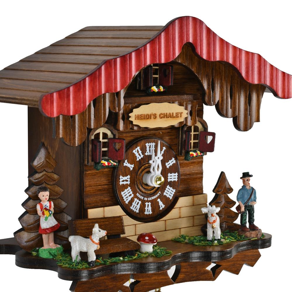 Heidis Chalet Black Forest Quartz Cuckoo Clock