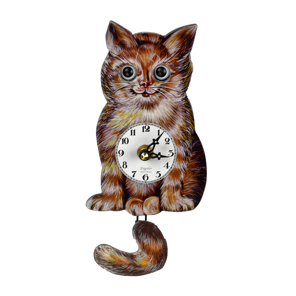 Moving Cat Eyes Miniature Quartz Clock