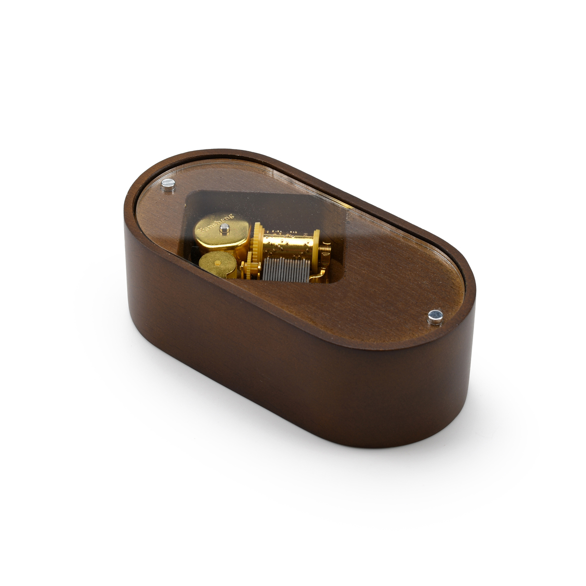 Solid Wooden 18 Note Pill Shaped Musical Paperweight