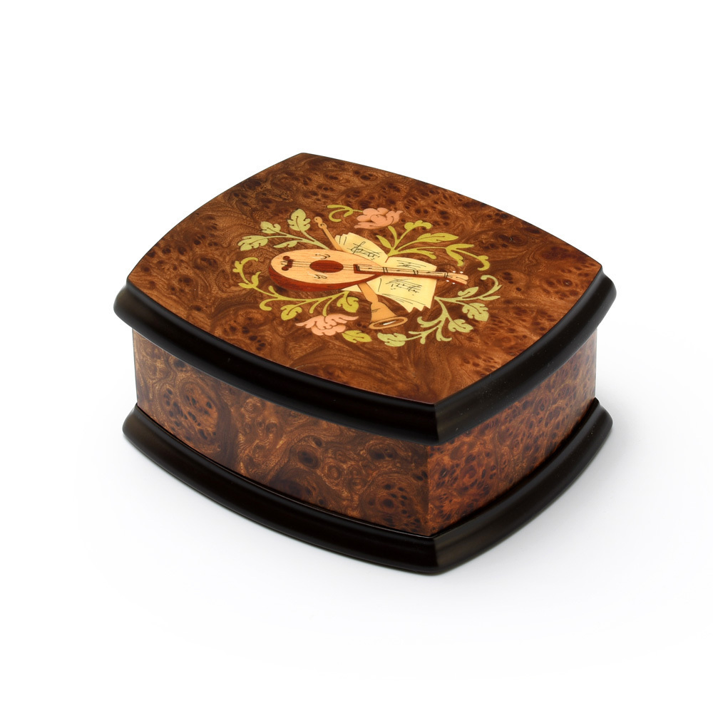 Handcrafted 23 Note Italian Musical Theme Inlay Music Jewelry Box