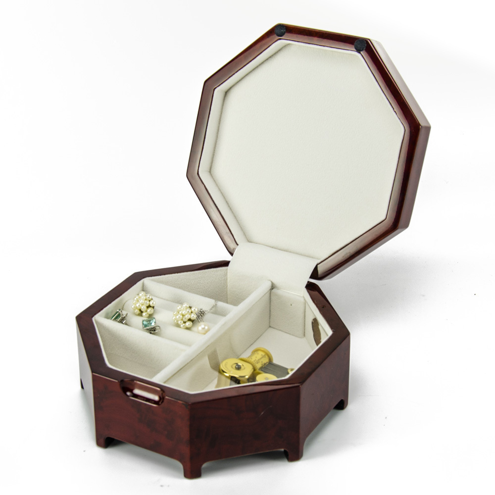 Enchanting 23 Note Octagonal Zen Inspired Musical Jewelry Box