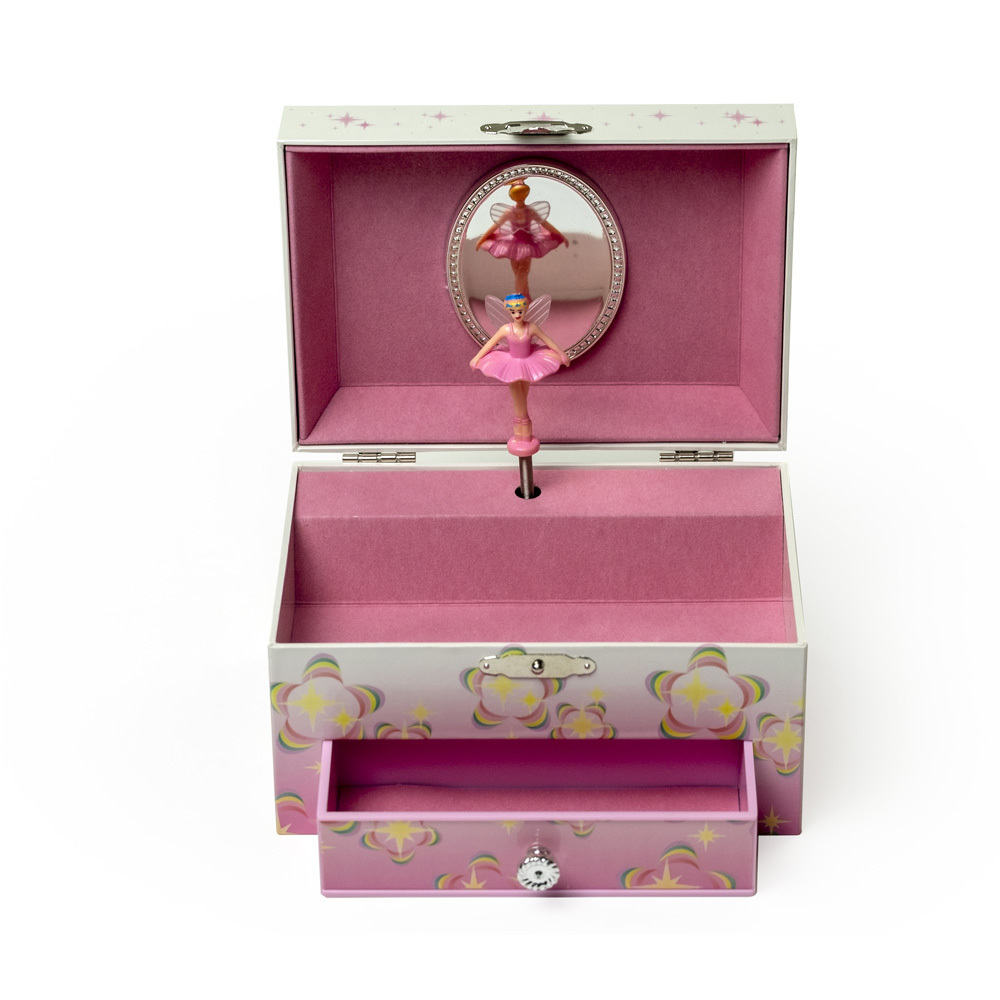 Colorful Fairy and Flowers Spinning Ballerina Musical Jewelry Box – Ashley by Mele and Co
