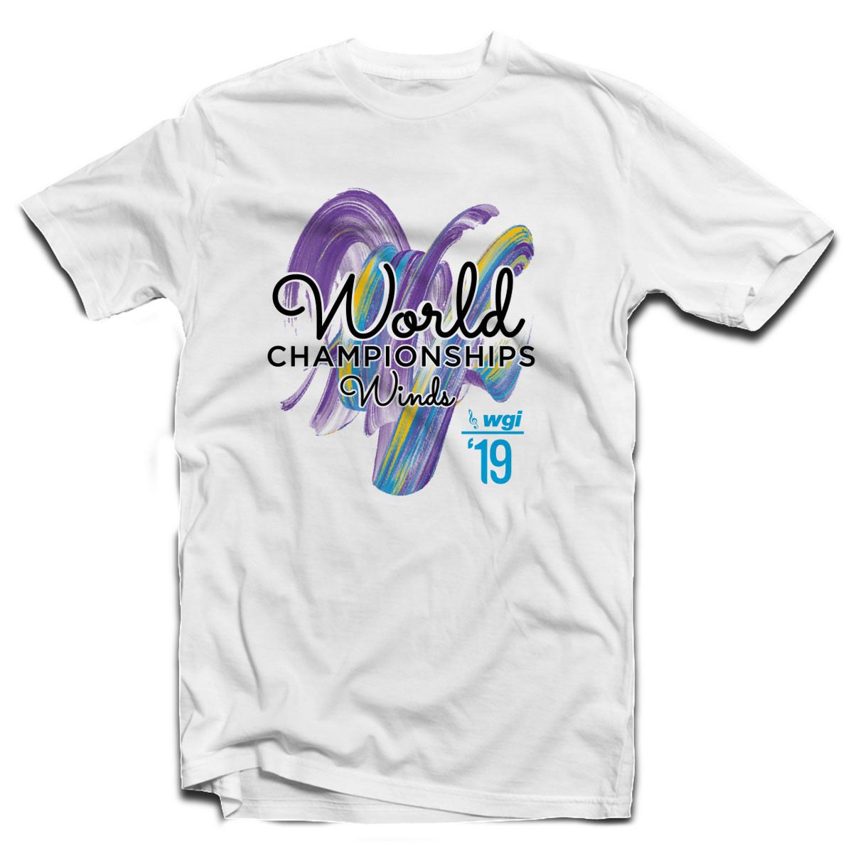 2019 WGI World Championship Winds White T-Shirt