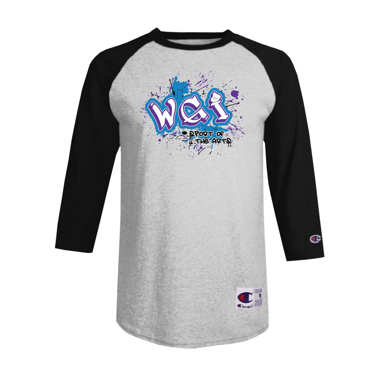 WGI Knockout Logo Champion Baseball Tee