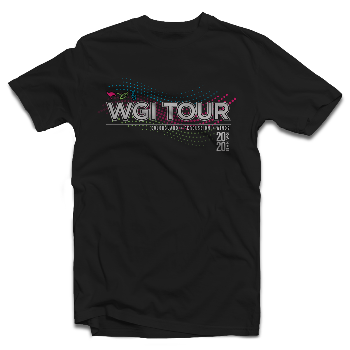 2020 WGI Tour Black T-shirt