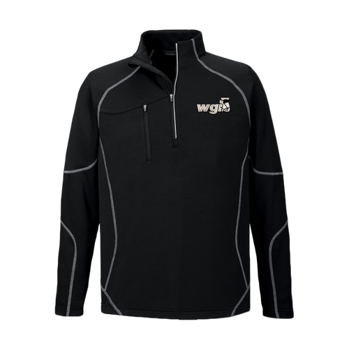 WGI Embroidered Black 1/4 Zip Jacket - Online Exclusive