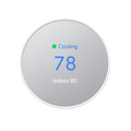 Nest snow white thermostat set to cool 78 degrees