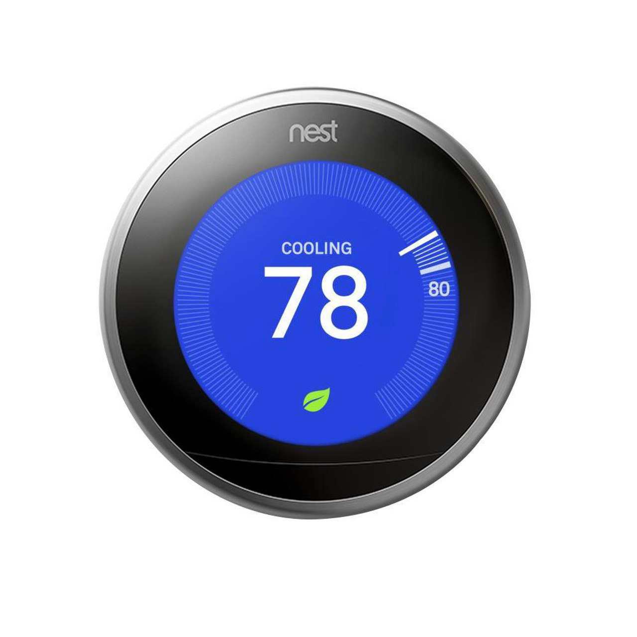 Nest learning thermostat set on cool 78 degrees