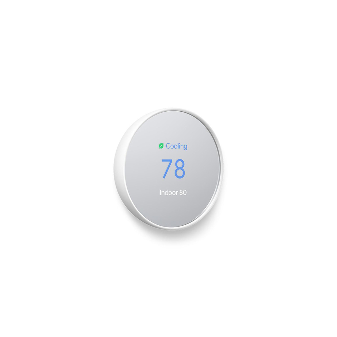 Nest snow white thermostat side view