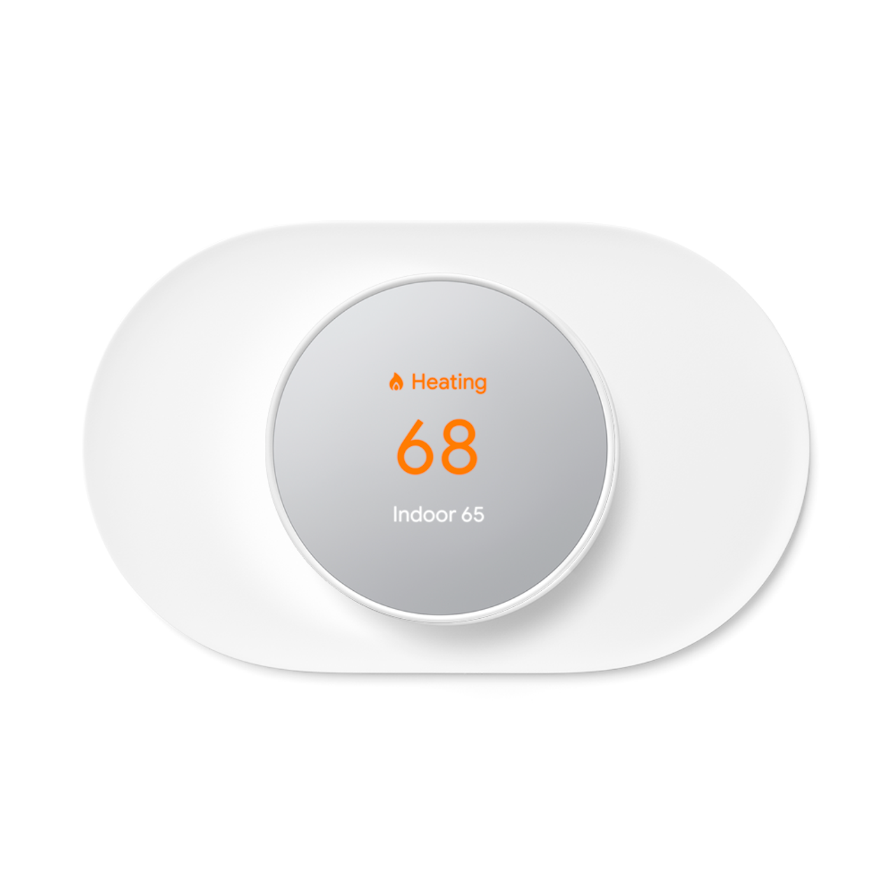 Snow white nest thermostat in matching trim kit