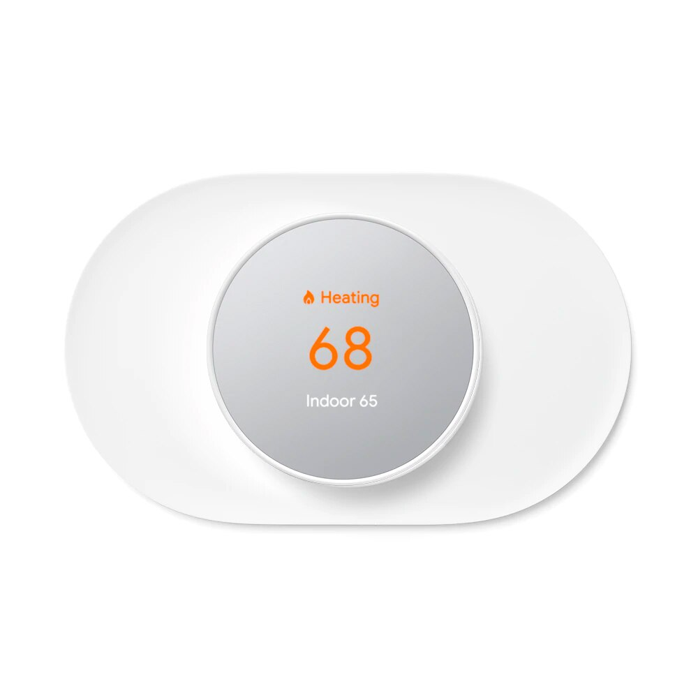 nest snow thermostat and wallplate