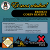 French Corps Reserve (Mid-Late War) Attachment Pack