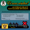 Austrian Heavy Kavallerie Division (Early-Mid-Late War) Attachment Pack