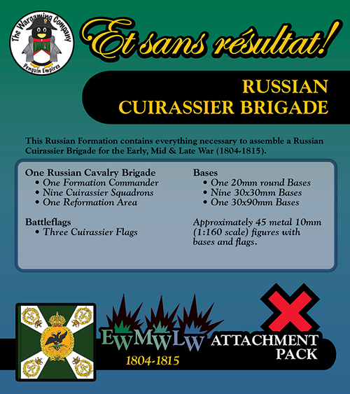 Russian Cuirassier Brigade (Early-Mid-Late War) Attachment Pack