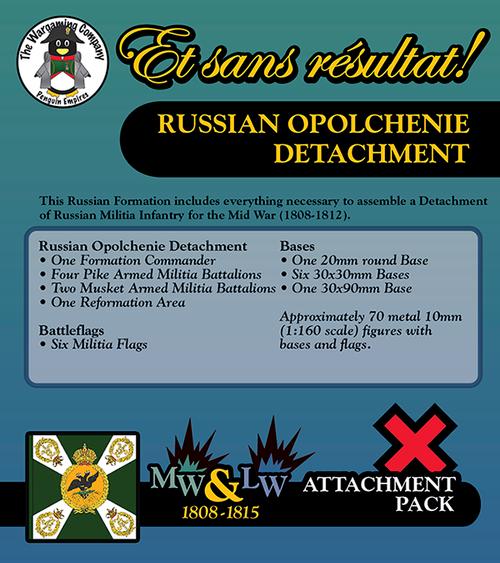 Russian Opolchenie Detachment (Mid-Late War) Attachment Pack