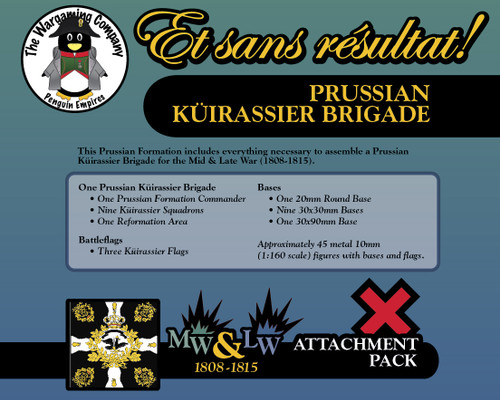 Prussian Küirassier Brigade (Mid-Late War) Attachment Pack