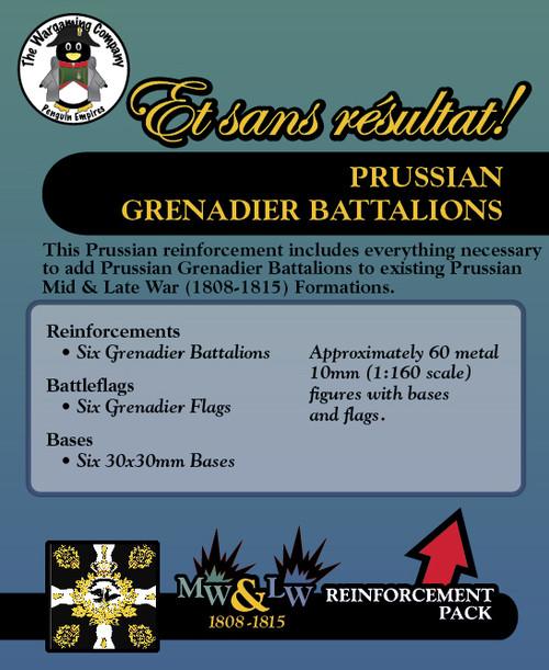 Prussian Grenadier Battalions (Mid-Late War) Reinforcement Pack