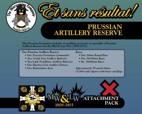 Prussian Artillery Reserve (Mid-Late War) Attachment Pack