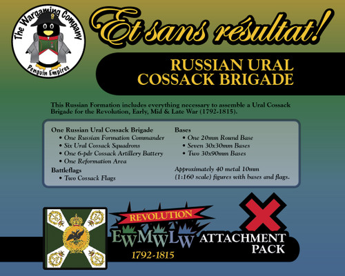 Russian Ural Cossack Brigade (Revolution-Early-Mid-Late War) Attachment Pack