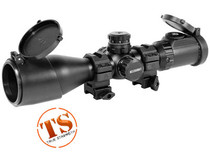Leapers 3-12X44 AO SWAT Compact Accushot Rifle Scope, EZ-TAP, Illuminated Mil-Dot Reticle, 1/4 MOA, 30mm Tube, See-Thru Weaver Rings