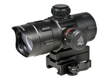 1x32.5mm ITA Combat Red/Green Dot Sight, 1/2 MOA, 38mm Tube, Riser, Quick-Detach Weaver/Picatinny Mount