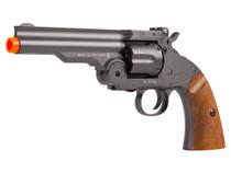 """Schofield Airsoft CO2 BB Revolver, 5"""" Barrel, Black"""