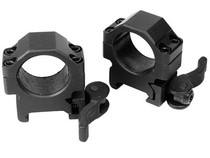 "UTG 1"" Max Strength Quick-Detach Rings, Low, Weaver/Picatinny,"