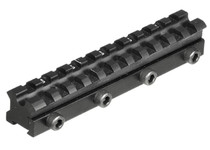 UTG Drooper Scope Rail, 11mm-to-Weaver Adapter, Compensates for Droop & Stops Scope Shift