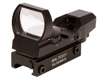 CenterPoint Optics 32mm Open Reflex Sight, 4 Red/Green Reticles, 1 MOA, Weaver Mount