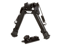 "UTG Tactical Super Duty Full Metal Bipod, Quick Detach Lever Lock, Center Height: 6.0""- 8.5"" Leg Length: 5.5""-8.0"""