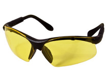 Radians Revelation Safety Glasses, Black Frame, Yellow Lenses, Adj. Temples