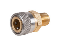 "Air Venturi Foster Female Quick-Disconnect to 1/8"" BSPP Male, 5000 PSI"