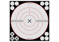 """Birchwood Casey Shoot-N-C White/Black Bullseye X Targets & Pasters, 8"""", 6ct"""