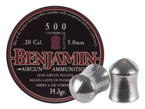 Benjamin Cylindrical .20 Cal, 14.3 Grains, Pointed, 500ct