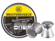 RWS Meisterkugeln Rifle .177 Cal, 8.2 Grains, Wadcutter, 500ct