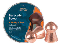 H&N Baracuda Power .177 Cal, 10.65 Grains, Round Nose, 300ct
